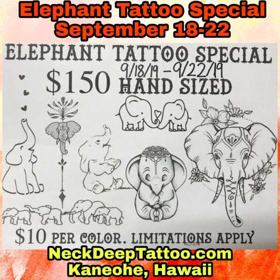 Elephant Tattoo Special
