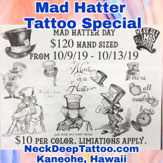 Mad Hatter Tattoo Special