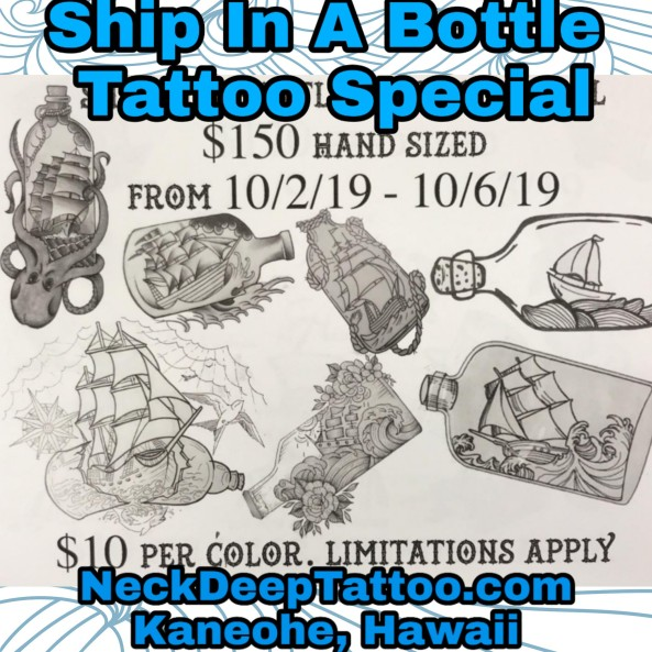 Ship in a Bottle Tattoo Special